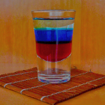 Cocktail Shot Russian Flag