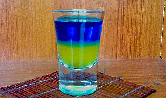 Cocktail Shot Ukraine Flag recipe