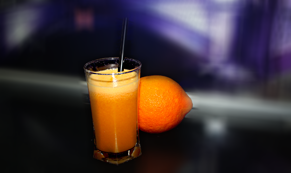 Fresh Orange, Carrot and Apple Juice