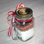 Hot chocolate in a mason jar
